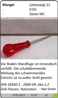 Baugutachter Olaf Printz München - Fliesen